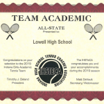 Girls Tennis Earns Team Academic All-State Honors