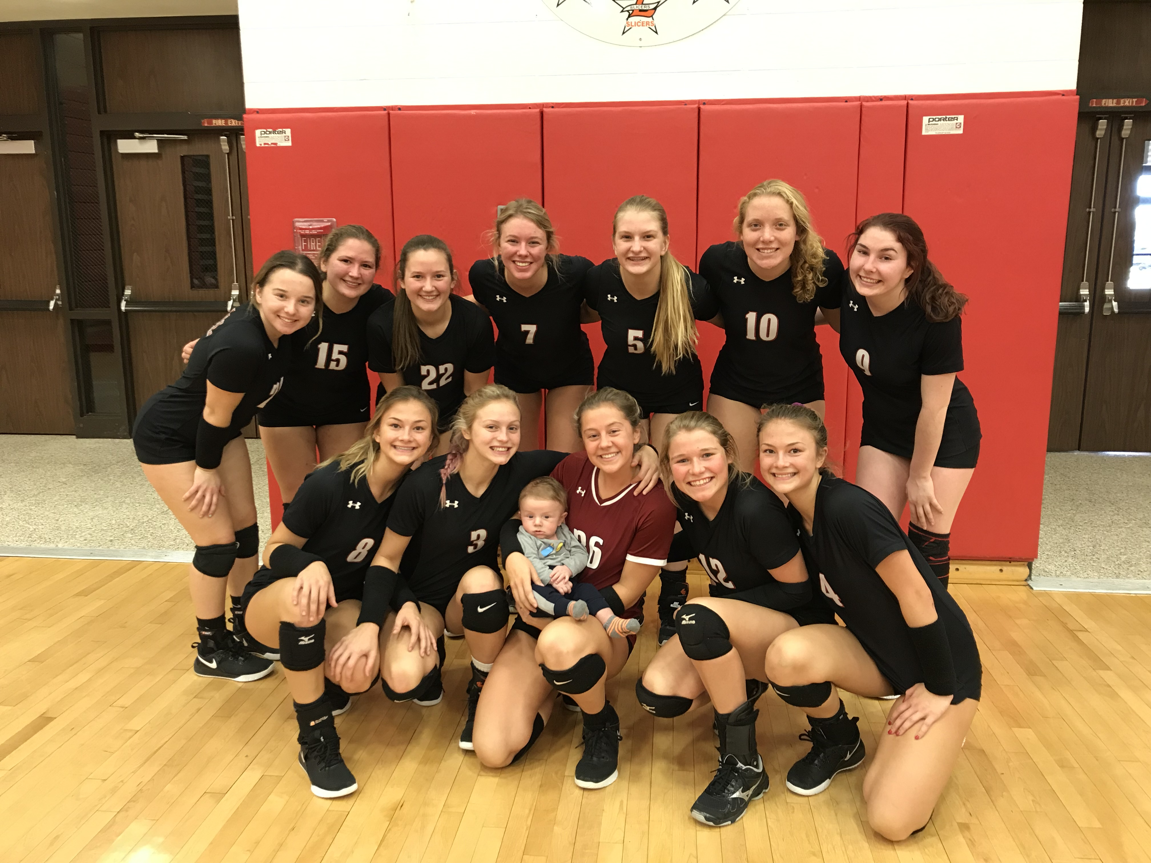 Varsity Volleyball finish off regular season with a win over Portage 3-0