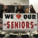 Girls Varsity Basketball took a loss to Merrillville, but were victorious in honoring their SENIORS.