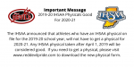 2019-2020 Physicals Good for 2020-21