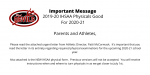 Important Update on 2020 IHSAA Physicals