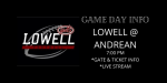 Lowell vs Andrean Football Tickets will be Sold Online Only