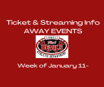 TICKET & STREAMING INFO FOR AWAY EVENTS