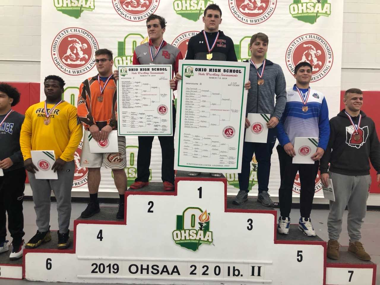 Bruno Pattison Places Seventh in State Wrestling Meet