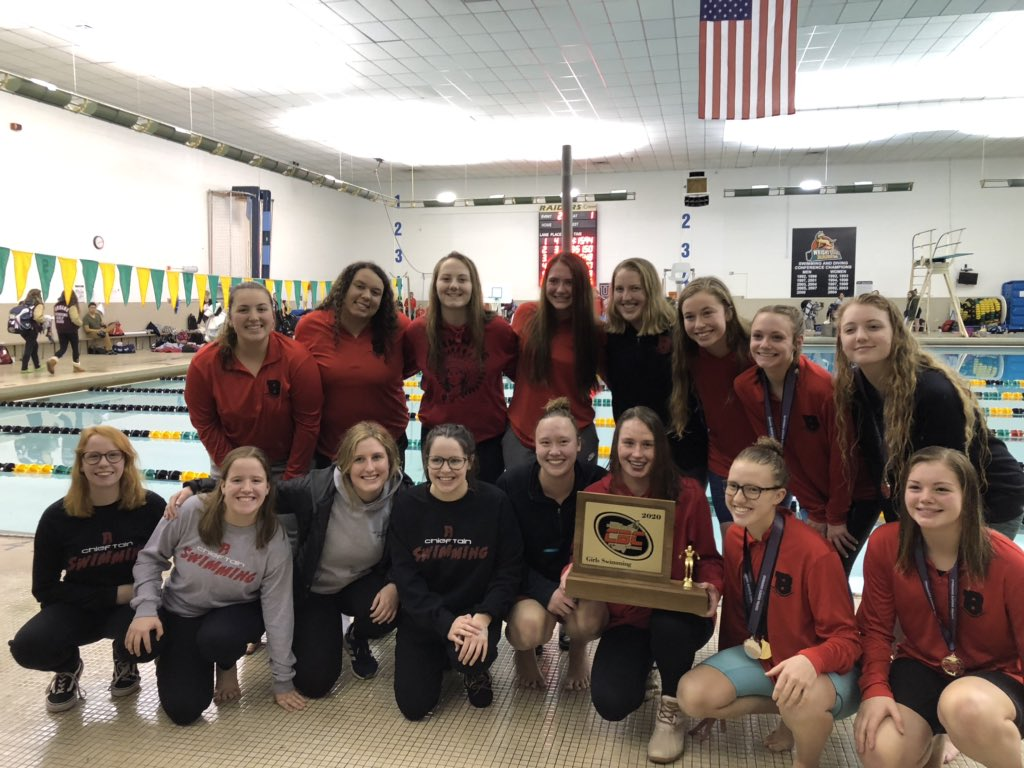 Lady Chiefs Swim Team CBC Champs!