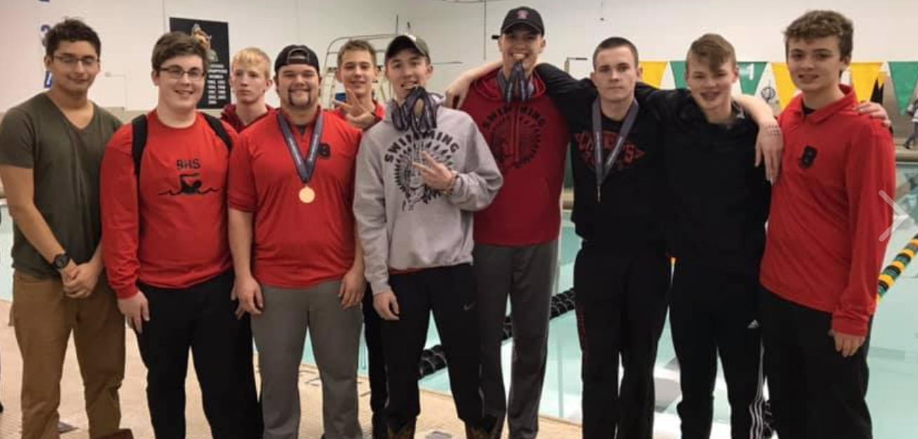 Chieftain Boys Swim to a 2nd Place!!
