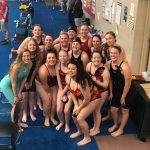 Girls Swimming Advances 12 Races to District Competition!