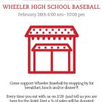 Wheeler Baseball Chick-Fil-A Spirit Day