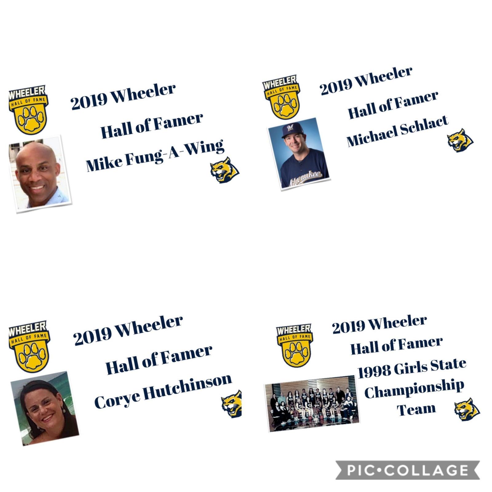 Wheeler High School Hall of Fame class of 2019