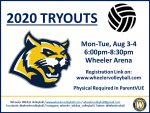 Wheeler Volleyball Tryout Information
