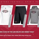 Football Apparel and Spirit Packs Available to Order Now through March 15