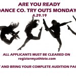 Dance Co. Tryouts-MONDAY!  April 29th 2pm, Frontier Middle School