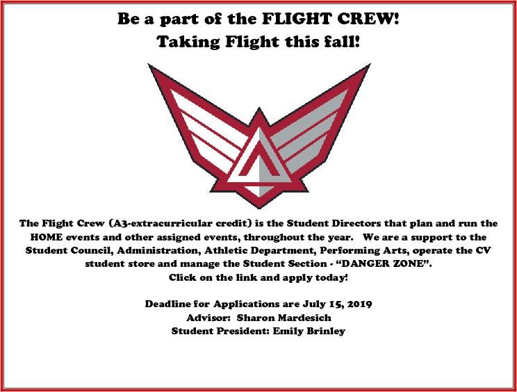 Last Call For Flight Crew Applications!