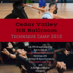 Cedar Valley Summer Ballroom Camp