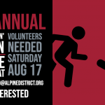 Volunteers Needed: 1st Annual Aviator Flyin' 5k Run & Walk