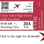 Back to School Boarding Pass Information Click Here!
