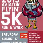 Aviator Flyin' 5K Registration Open NOW!