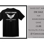 BUY YOUR HOMECOMING BLACKOUT T-SHIRT! $5.00 CLICK HERE FOR MORE INFORMATION