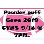 POWDER PUFF GAME CHANGE IN START TIME-7PM! Wednesday, 9/18