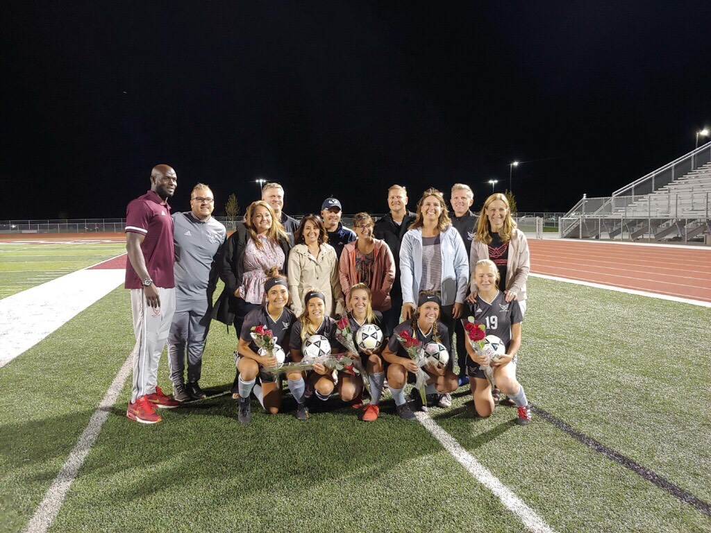 Girls Soccer Beat Ben Lomond on Senior Night to go 9-0 in Region
