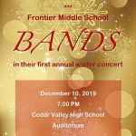 Come support the CVHS and FMS Bands in their first ever Winter Band Concert!
