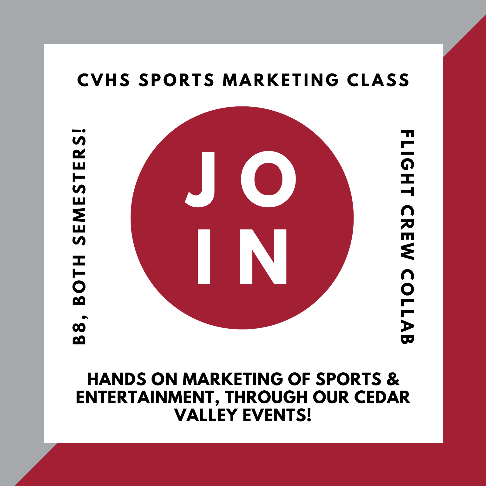 Sports Marketing Class Available-click here for more information!