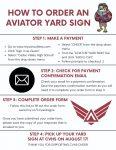 LAST DAY TO ORDER A CUSTOM AVIATOR YARD SIGN!