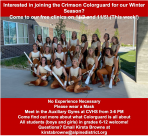 Colorguard Winter Season clinics THIS WEEK!