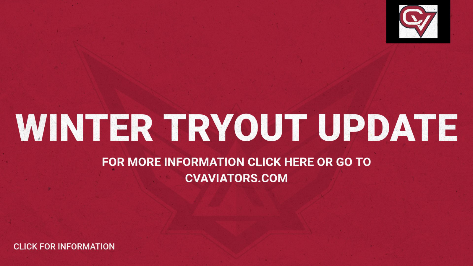 Winter Tryout UPDATE-Clear for TUESDAY!