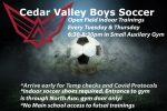 Boys Indoor Soccer Training for January