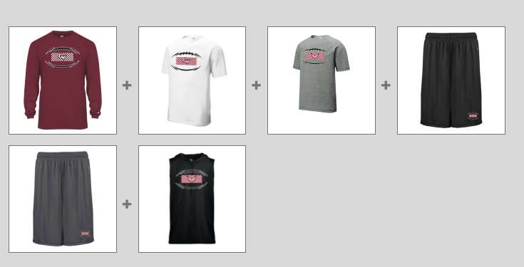 Football Spirit Pack and Gear Orders