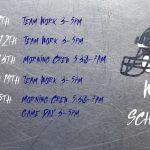 TV Football Weekly Agenda
