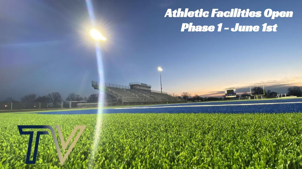 Athletic Facilities Open June 1 – Phase 1
