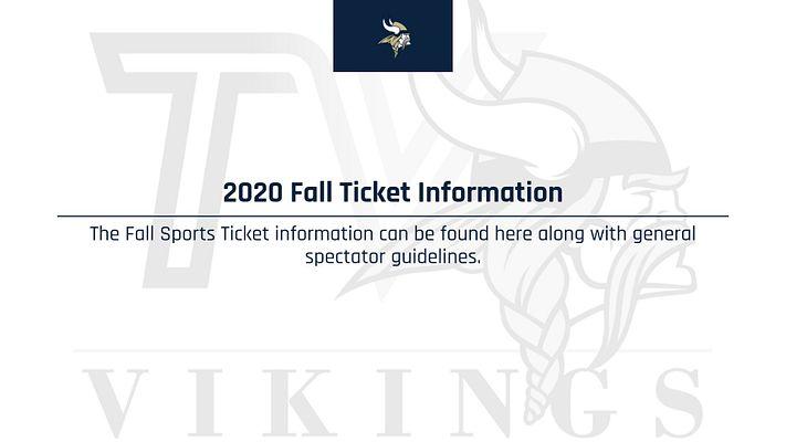 2020 Fall Tickets