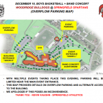 Overflow Parking Map – Band Concert + Boys Basketball (Tuesday 12/10)