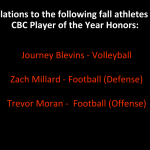 Fall CBC Player of the Year Awards