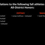 Fall All-District Selections