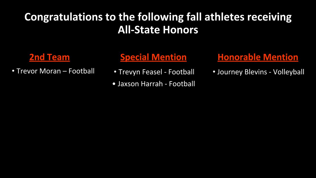 Fall All-Ohio Selections
