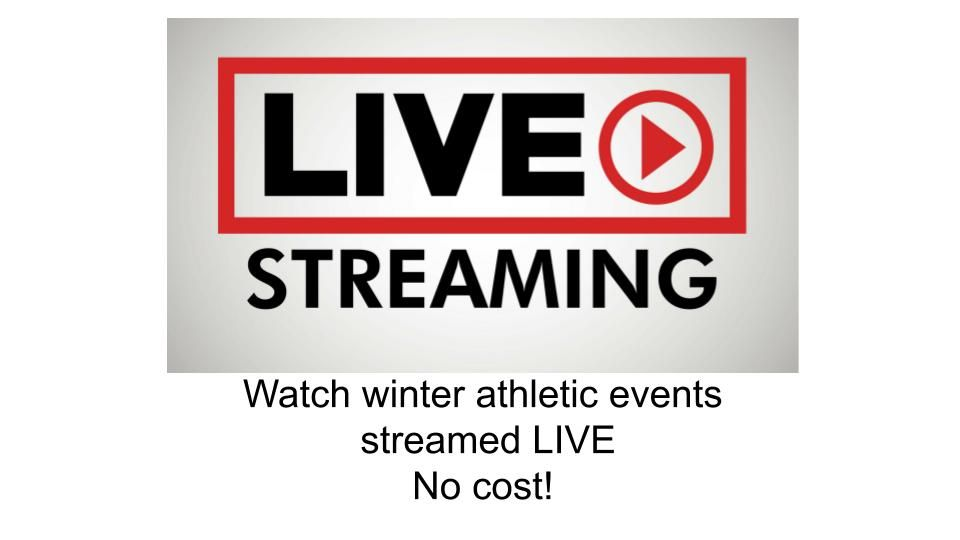 Live Stream Winter Athletic Events
