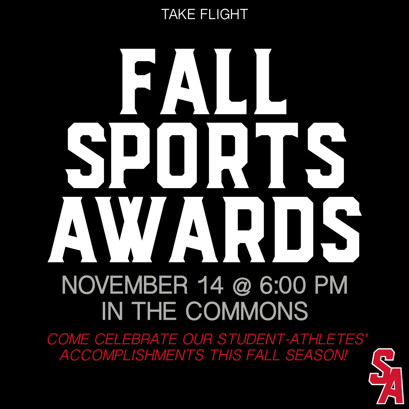 FALL SEASON SPORTS RECOGNITION & AWARDS NIGHT