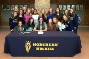 PHOTOS:  Bree Bauer signs to Lake Erie College 12-2-16
