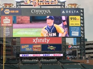 PHOTOS:  MANIS PLAYS AT COMERICA PARK ALL-STAR GAME 6-20-17