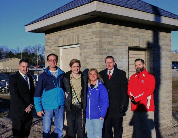 HUNT COMPLETES SOCCER TICKET HOUSE EAGLE SCOUT PROJECT