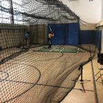 Laker Softball Players Working in the Cages