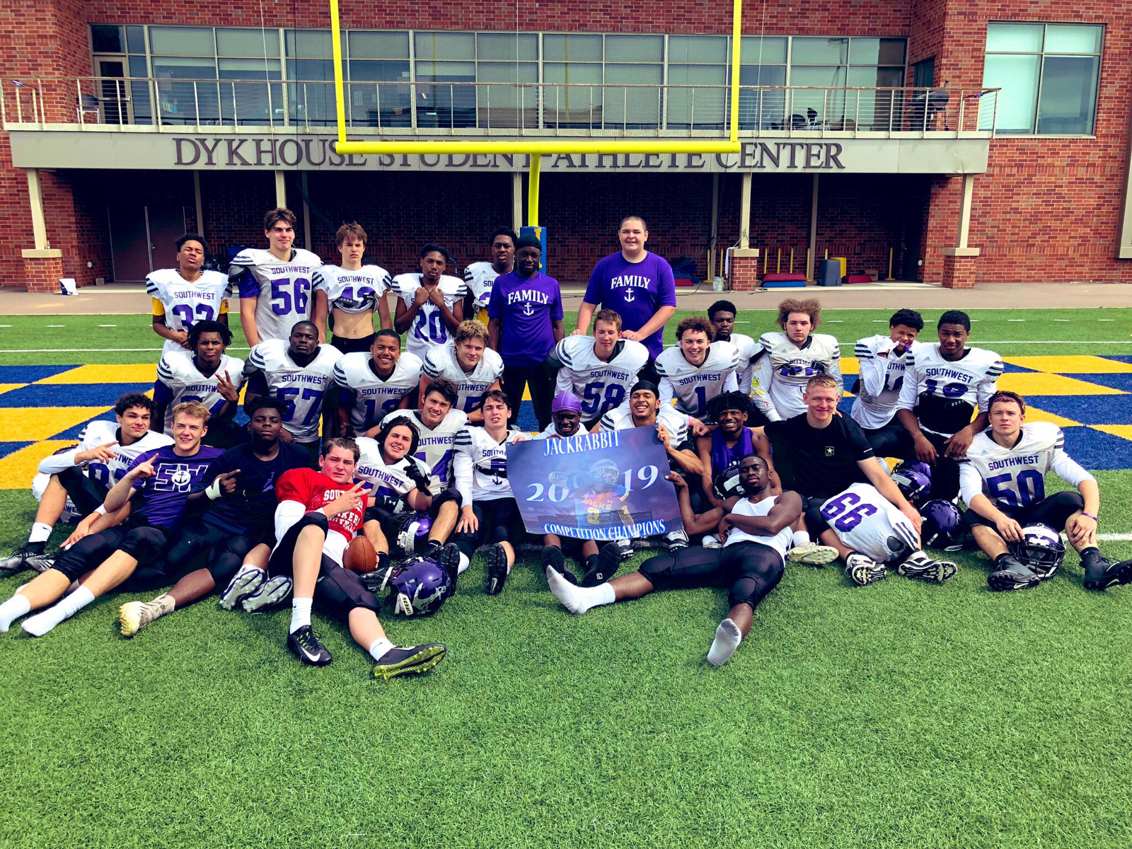 The Football Team Wins the SDSU Jackrabbit Championship
