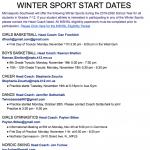 Winter Start Dates