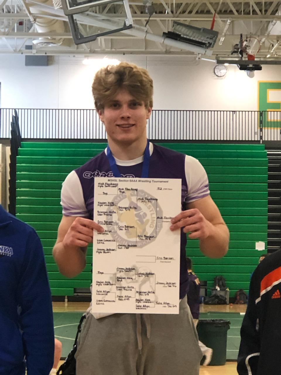 Nick Flaskamp heads to State Wrestling Tournament