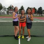 Tennis District competitiors