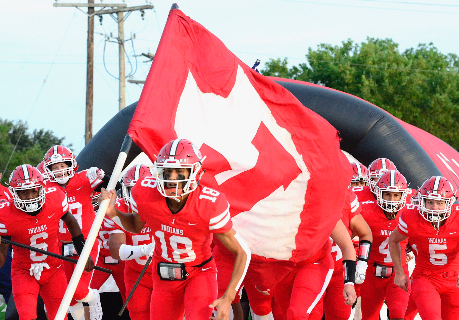 Football: Indians Defeat Dilley 56-7 (2-0)