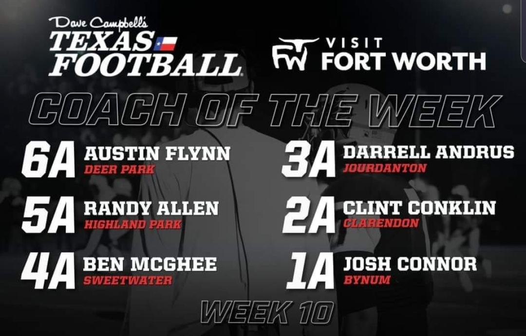 Football: DCTF Coach of The Week….Congrats Coach Andrus